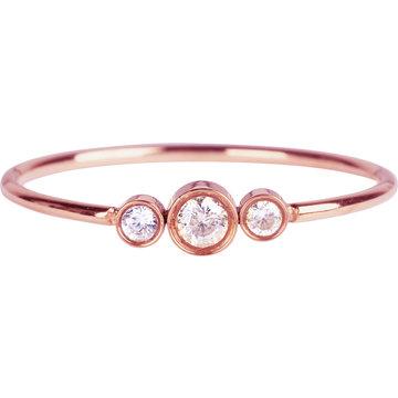 Charmin*s Charmin's Ring R936 Shiny Crystal Triplets Rosé
