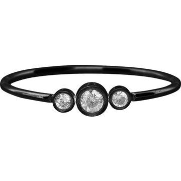 Charmin*s Charmin's Ring R937 Shiny Crystal Triplets Black
