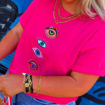 Pinned by K Pinned by K T-Shirt Eyes Pink