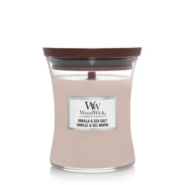 WoodWick WoodWick Vanille & Sea Salt Medium Candle