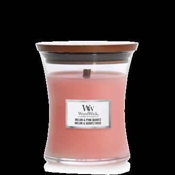 WoodWick WoodWick Melon & Pink Quartz Medium Candle