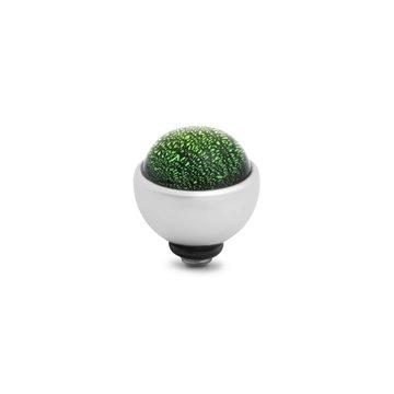 Melano Melano Twisted Shimmer Steentje Green Zilverkleurig