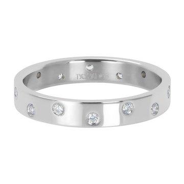 iXXXi Jewelry iXXXi Jewelry Losse Ring Zirconia 14 Stones Crystal Zilverkleurig
