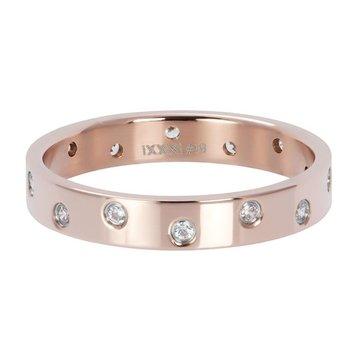 iXXXi Jewelry iXXXi Jewelry Losse Ring Zirconia 14 Stones Crystal Rosé