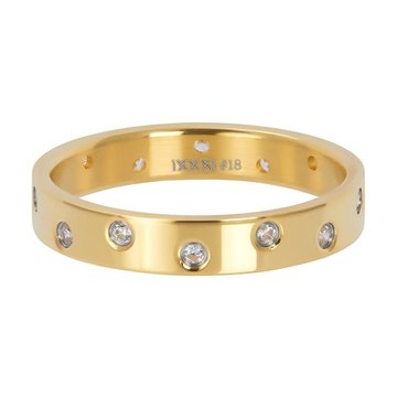 iXXXi Jewelry iXXXi Jewelry Losse Ring Zirconia 14 Stones Crystal Goudkleurig