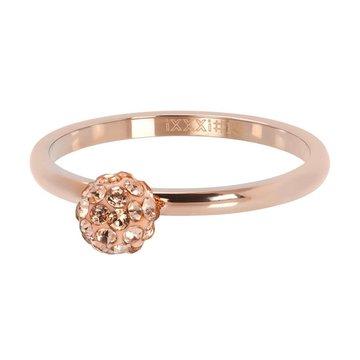 iXXXi Jewelry iXXXi Jewelry Losse Ring 1 Ball Fill Clear Crystal Rosé
