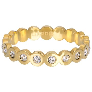 iXXXi Jewelry iXXXi Jewelry Losse Ring Big Circle Stone Goudkleurig