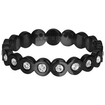 iXXXi Jewelry iXXXi Jewelry Losse Ring Big Circle Stone Zwart