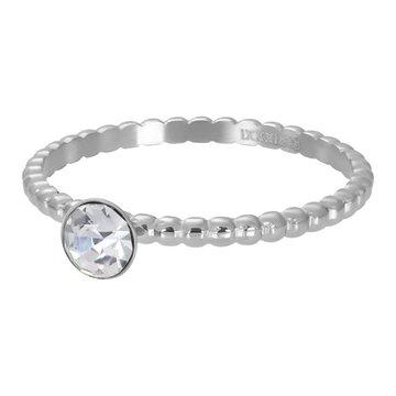 iXXXi Jewelry iXXXi Jewelry Losse Ring Ball With Crystal Stone Zilverkleurig