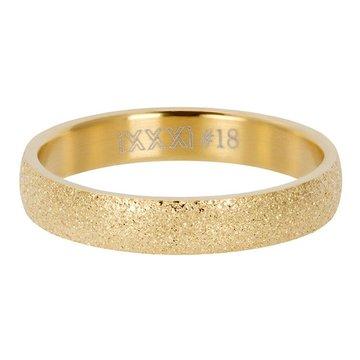 iXXXi Jewelry iXXXi Jewelry Losse Ring Sandblasted 4mm Goudkleurig