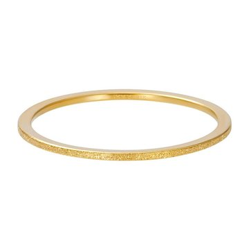 iXXXi Jewelry iXXXi Jewelry Losse Ring Sandblasted 1mm Goudkleurig