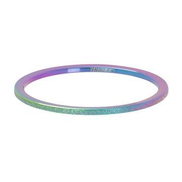 iXXXi Jewelry iXXXi Jewelry Losse Ring Sandblasted 1mm Regenboog