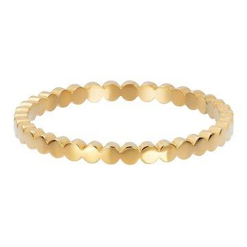 iXXXi Jewelry iXXXi Jewelry Losse Ring Flat Circles Goudkleurig