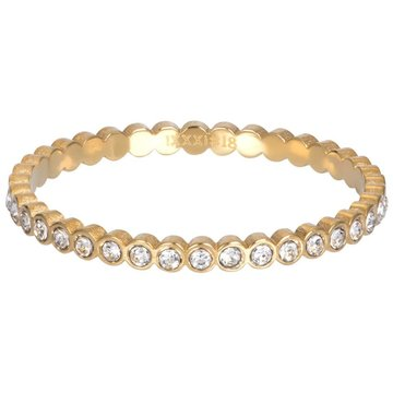 iXXXi Jewelry iXXXi Jewelry Losse Ring Small Circle Stone Goudkleurig