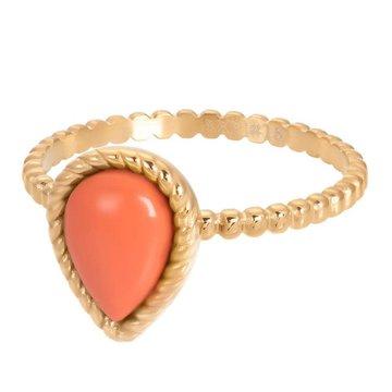 iXXXi Jewelry iXXXi Jewelry Losse Ring Magic Coral Goudkleurig
