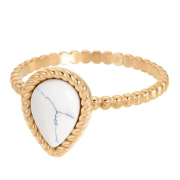 iXXXi Jewelry iXXXi Jewelry Losse Ring Magic White Goudkleurig