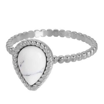 iXXXi Jewelry iXXXi Jewelry Losse Ring Magic White Zilverkleurig
