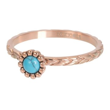 iXXXi Jewelry iXXXi Jewelry Losse Ring Inspired Turquoise Rosé