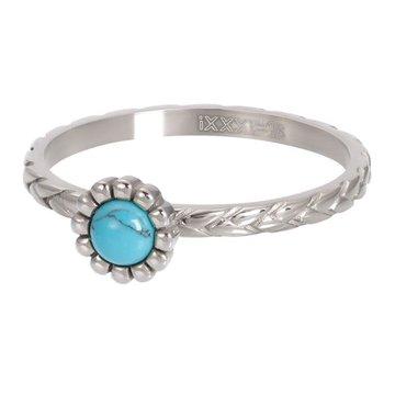 iXXXi Jewelry iXXXi Jewelry Losse Ring Inspired Turquoise Zilverkleurig