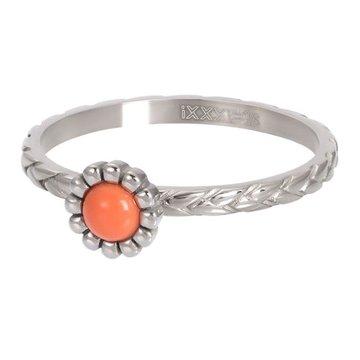 iXXXi Jewelry iXXXi Jewelry Losse Ring Inspired Coral Zilverkleurig