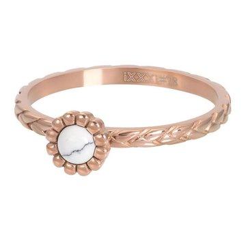 iXXXi Jewelry iXXXi Jewelry Losse Ring Inspired White Rosé
