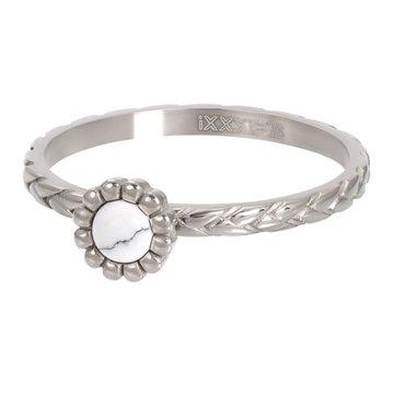 iXXXi Jewelry iXXXi Jewelry Losse Ring Inspired White Zilverkleurig