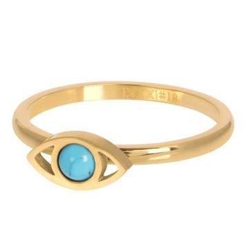 iXXXi Jewelry iXXXi Jewelry Losse Ring Lucky Eye Goudkleurig