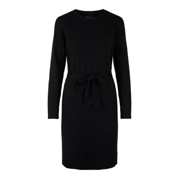 Pieces Pieces PC Cava LS O-Neck Knit Dress Noos Black