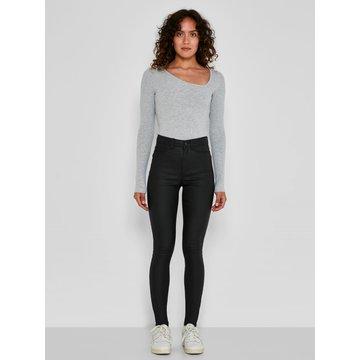 Noisy May Noisy May NM Callie HW Skinny Coated Pants Black