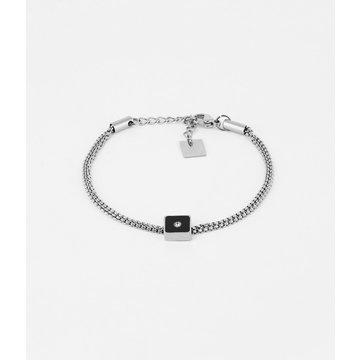 Zag Bijoux Zag Bijoux Ilaria Armband Black Zilverkleurig
