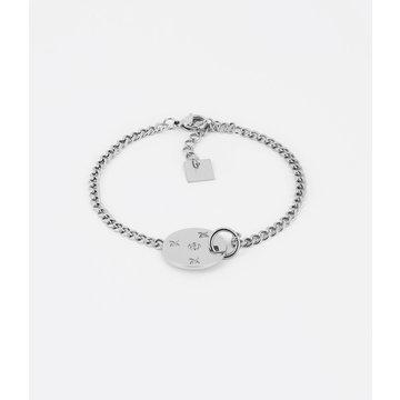 Zag Bijoux Zag Bijoux Freud Armband Zilverkleurig