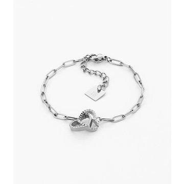 Zag Bijoux Zag Bijoux Heart Armband Zilverkleurig
