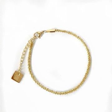 Zag Bijoux Zag Bijoux Twisted Armband Goudkleurig
