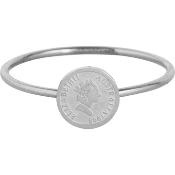 Charmin*s Charmin's  R962 Wish Coin Steel Ring