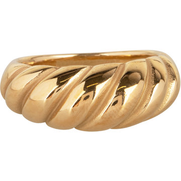 Charmin*s Charmin's R996 Chubby Croissant Ring Goldplated Steel