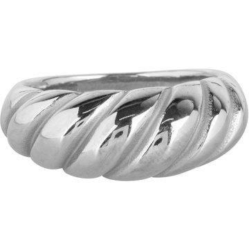 Charmin*s Charmin's R995 Chubby Croissant Ring Steel