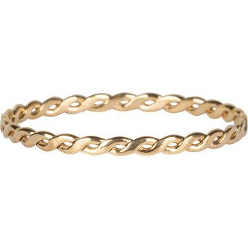 Charmin*s Charmin's R775 Curvy Tiny Chain Goldplated Steel