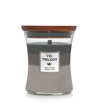 WoodWick WoodWick Trilogy Cozy Cabin Medium Candle