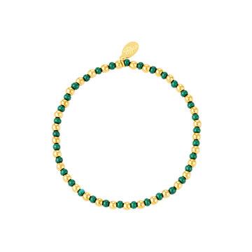 Goodies Goodies Armband Groene Beads Goudkleurig