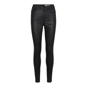 Noisy May Noisy May NM Callie Chic HW Coated Pants BG S* Black