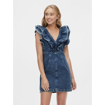 Pieces Pieces PC Namir LS Denim Shirt Dress Light Blue Denim