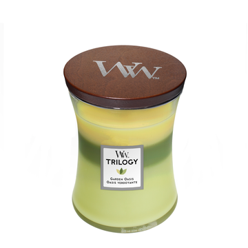 WoodWick Woodwick Trilogy Garden Oasis Medium Candle