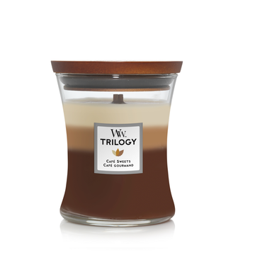 WoodWick Woodwick Trilogy Cafe Sweets Medium Candle