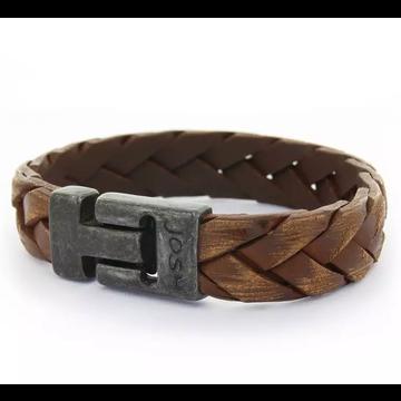 Josh Accessoires Josh Men Armband 24903 - BRA VB/COGNAC Maat L 21.5 cm