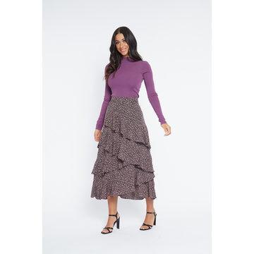 Lofty Manner Lofty Manner Skirt Cheryl Purple Black
