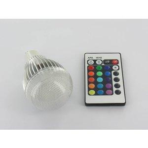 """9 Watt RGB-LED-Lampe """"GU10 mit IR-Fernbedienung"""