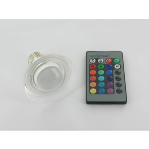 Spot E27 de RVB 3 watts en verre LED avec télécommande IR