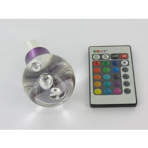 «Ballon» lampe GU10 RGB de 3 watts LED avec télécommande IR