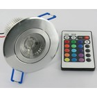 9W RGB Downlight with IR Remote Control