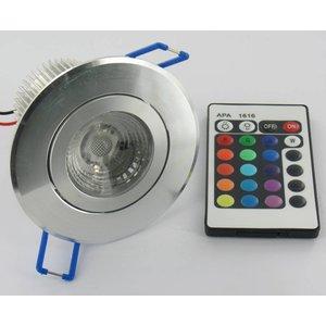 9W RGB Downlight with IR Remote Control